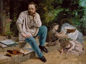 Courbet : Proudhon et ses enfants 1875